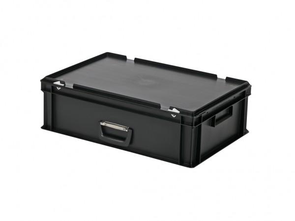 Koffer - 600x400xH185mm - zwart