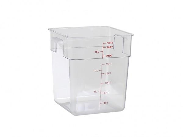 Voedseldoos polycarbonaat - 15 liter - 288x288xH317mm