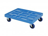 Kunststof dolly - 800x600mm - blauw 52.TR8060.2.L