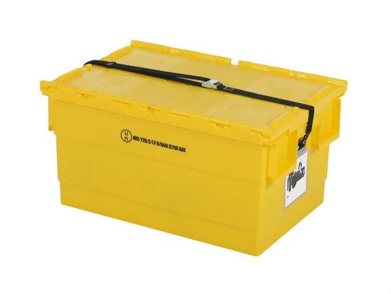Batterijbox - 600 x 400 x H300 mm - Geel