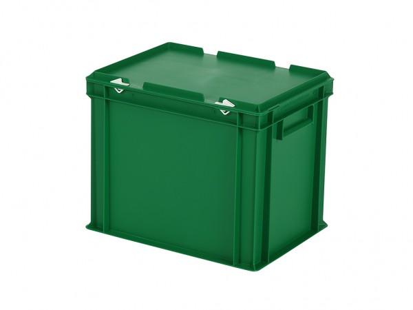 Stapelbak met deksel - 400x300xH335mm - groen