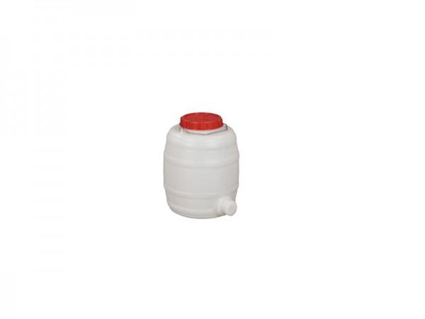 Kunststof vat met uitloop - 15 liter - naturelwit