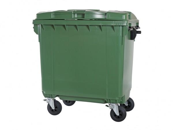 4-wiel afvalcontainer - 770 liter - groen