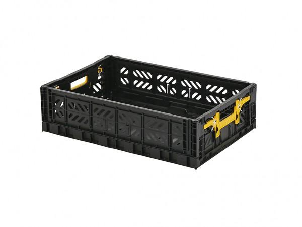 MULTIWAY klapkrat - 600x400xH156mm - zwart - gele grepen
