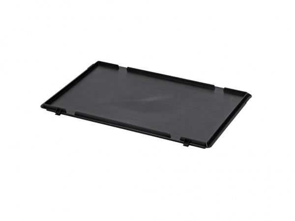 Kunststof scharnierdeksel 600x400mm - zwart