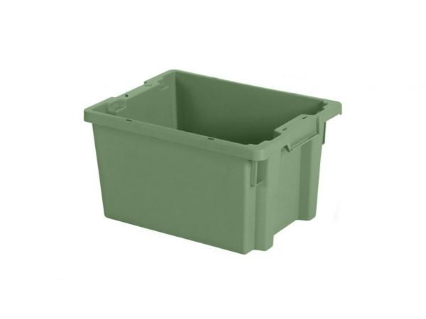 Stapel-nestbare bak - 400x300xH220mm - groen
