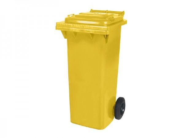 2-wiel afvalcontainer - 80 liter - geel