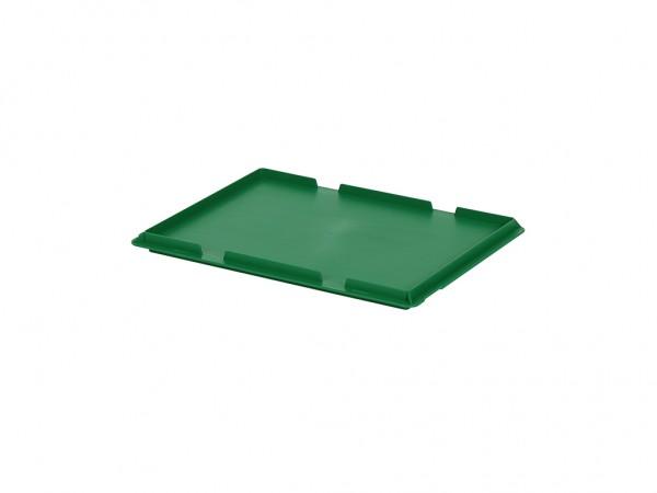 Kunststof scharnierdeksel 400x300mm - groen
