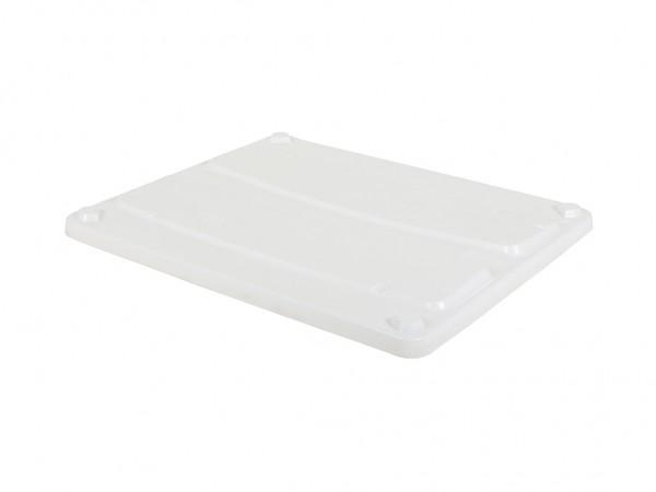 SALE - Dolav palletbox deksel 1200 x 1000 x 70 mm - wit