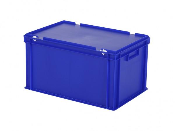 Stapelbak met deksel - 600x400xH335mm - blauw