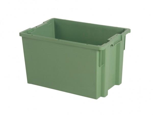 Stapel-nestbare bak - 600x400xH350mm - groen