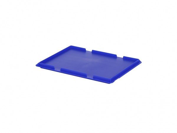 Kunststof scharnierdeksel 400x300mm - blauw