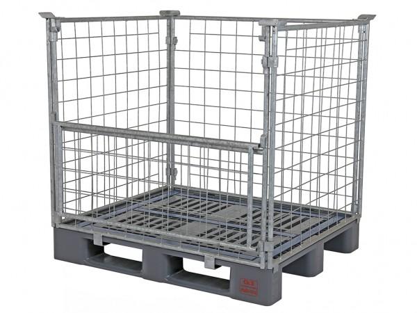 SALE - Kunststof pallet CR3 - met gaascontainer - 1200x1000mm