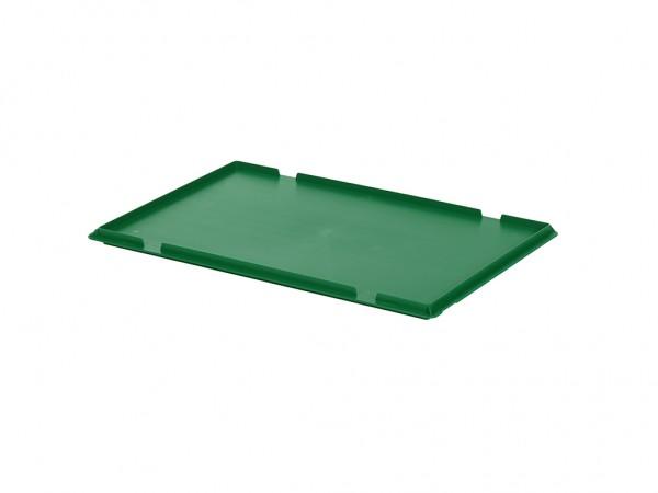 Kunststof scharnierdeksel 600x400mm - groen