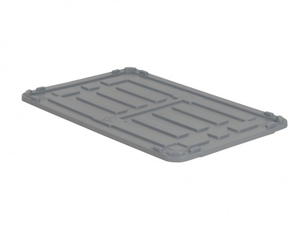 Oplegdeksel 1040x640mm voor palletboxen - grijs