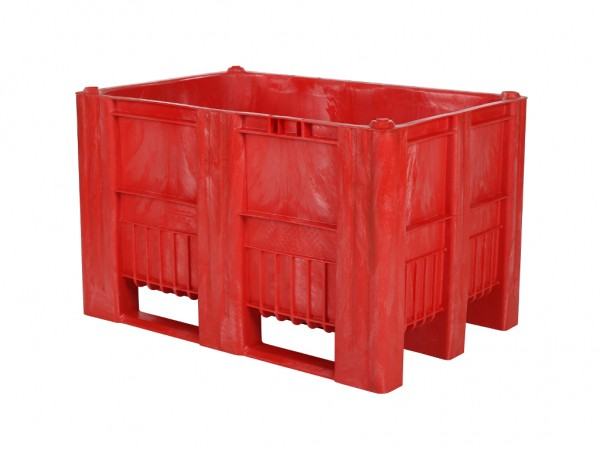 Palletbox - 1200x800mm - 3 sledes - rood