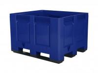 Palletbox - 1200x1000mm - 3 sledes - blauw 4401.300.623