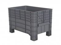 Kunststof palletbox - 1040x640xH668mm - op vier poten - grijs 72.G3MINI.67.0