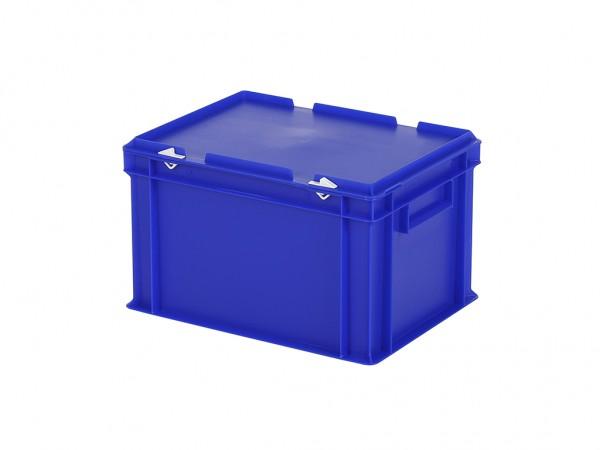 Stapelbak met deksel - 400x300xH250mm - blauw