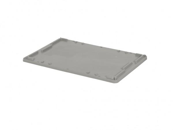 Kunststof oplegdeksel 600x400mm - grijs