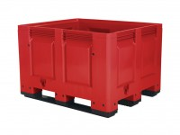 Palletbox - 1200x1000mm - 3 sledes - rood 4401.300.215