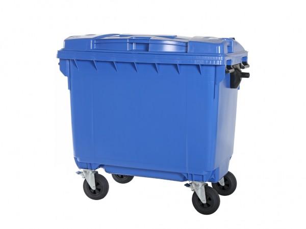 4-wiel afvalcontainer - 660 liter - blauw