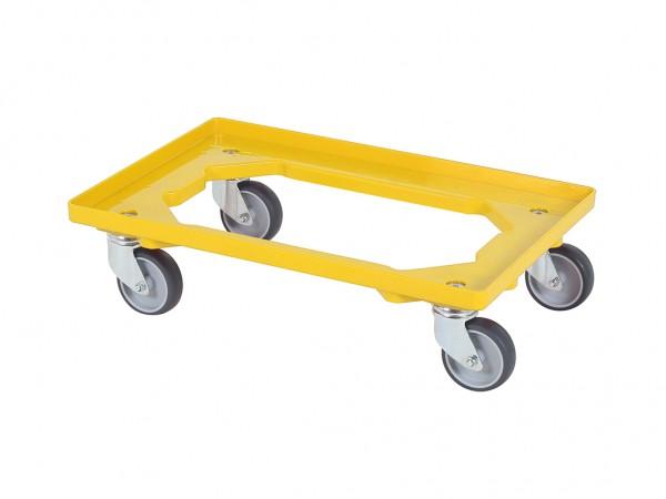 Kunststof dolly - 600x400mm - geel