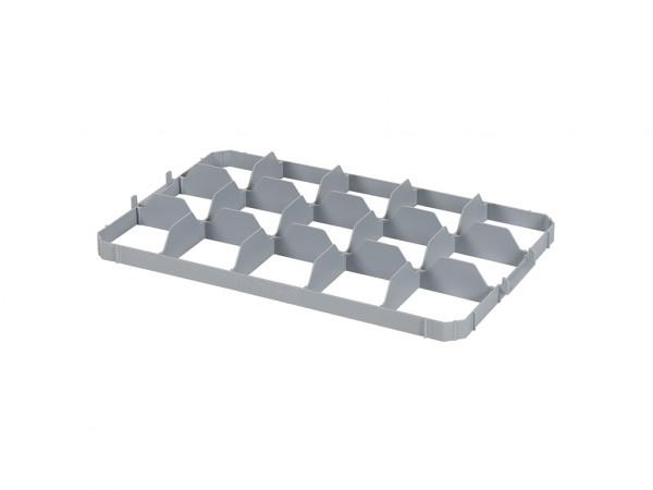 Bovenvakverdeling 15 vaks voor stapelkrat - vakafmeting 116 x 106 mm