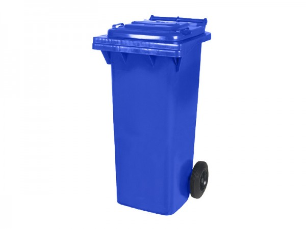 2-wiel afvalcontainer - 80 liter - blauw