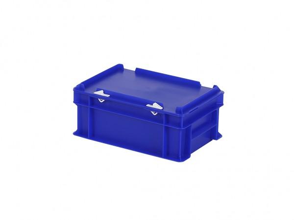 Stapelbak met deksel - 300x200xH133mm - blauw