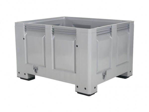 Palletbox - 1200x1000mm - op 4 poten - grijs