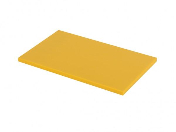 Kunststof snijplank - 530x325x20mm - geel