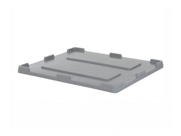 Oplegdeksel 1200x1000mm voor palletboxen - grijs