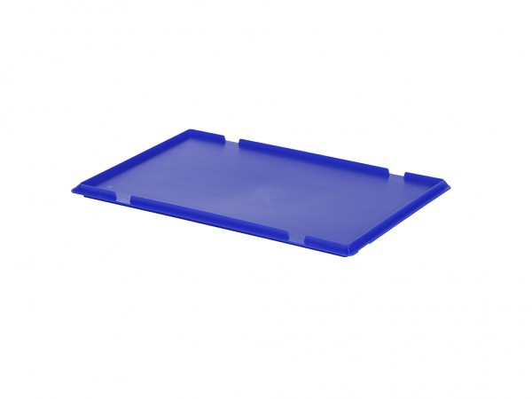 Kunststof scharnierdeksel 600x400mm - blauw