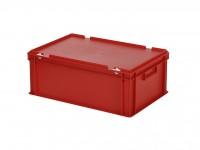 Stapelbak met deksel - 600x400xH235mm - rood 30.622.DB.4