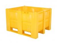 Palletbox - 1200x1000mm - 3 sledes - geel 83281410