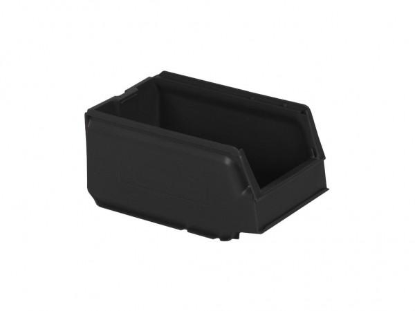 Kunststof magazijnbak - 250x148xH130mm - grijs-regeneraat
