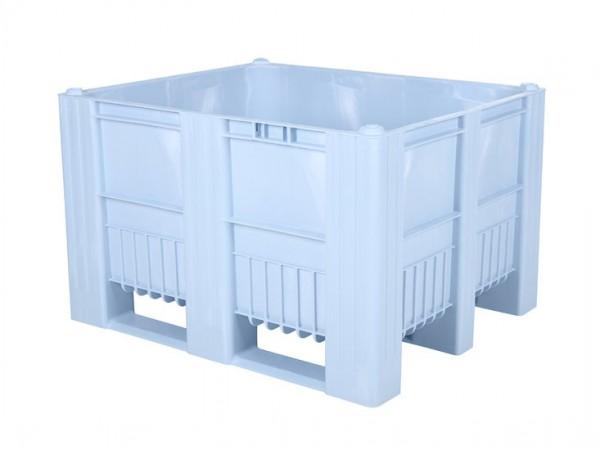 Palletbox - 1200x1000mm - 3 sledes - lichtblauw