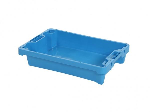 Filetkist - 600x400xH125mm - 10kg - 15l - lichtblauw