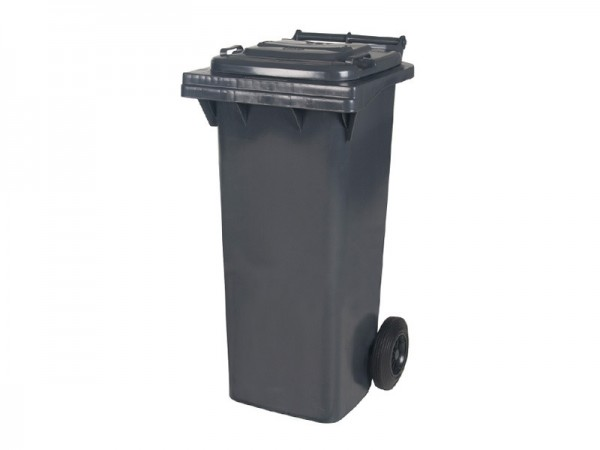 2-wiel afvalcontainer - 80 liter - grijs