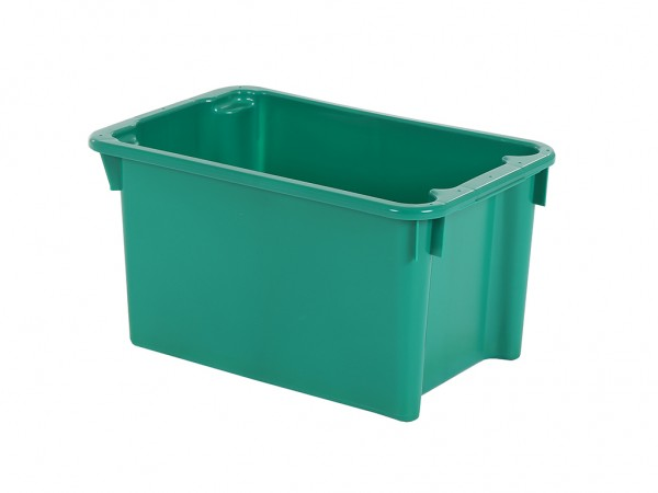 Stapel-nestbare bak - 600x400xH325mm - groen