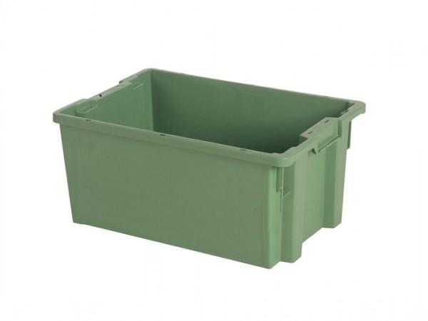 Stapel-nestbare bak - 600x400xH270mm - groen