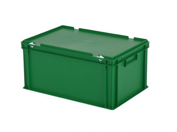 Stapelbak met deksel - 600x400xH295mm - groen