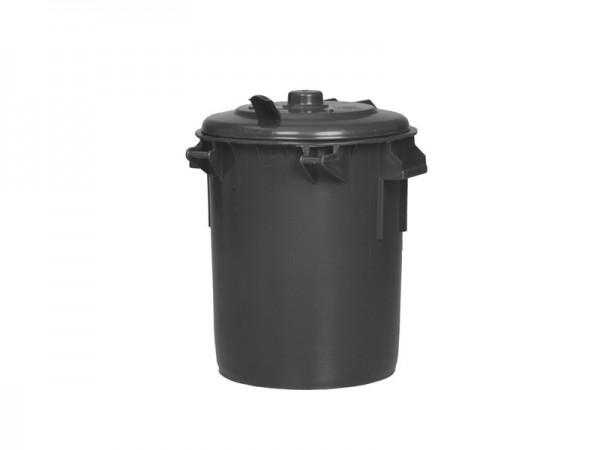 Kunststof afvalton rond - 70 liter - donkergrijs
