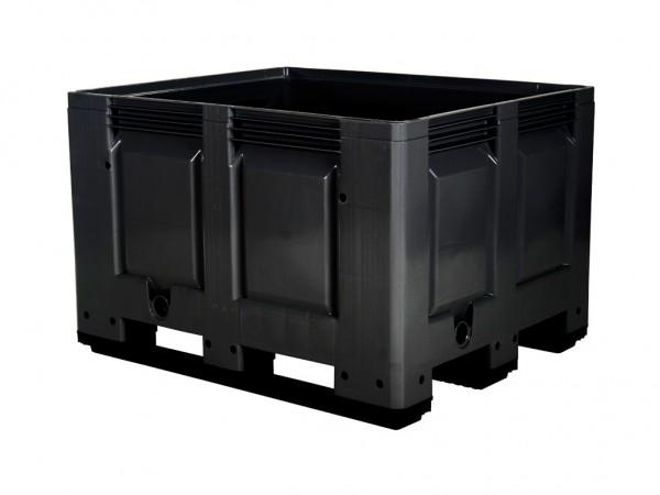 Palletbox - 1200x1000mm - 3 sledes - zwart