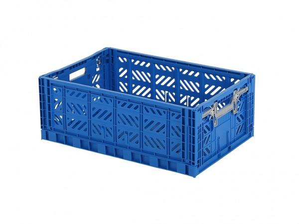 MULTIWAY klapkrat - 600x400xH220mm - blauw - grijze grepen