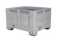 Palletbox - 1200x1000mm - op 4 poten - grijs 4401.100.554
