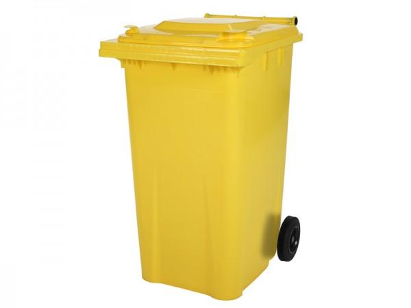 2-wiel afvalcontainer - 240 liter - geel