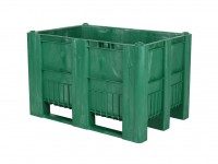 Kunststof palletbox - 1200x800xH740mm - 3 sledes - groen 83381510
