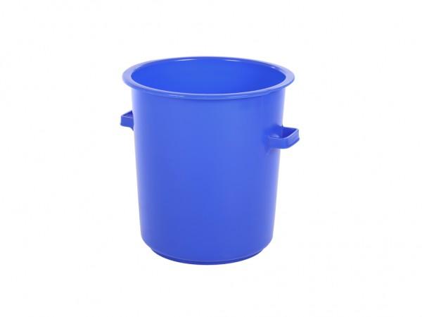 Kunststof ton 75 liter - heavy duty - blauw